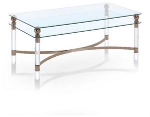 Furniture of America Bolynn Glass Top Coffee Table