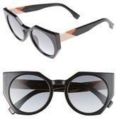 Fendi Women's 51Mm Retro Sunglasses - Black