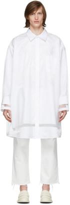 Maison Margiela White Oversized Organza Shirt