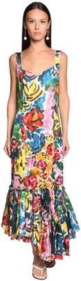 Marni Ruffled Multicolor Long Dress