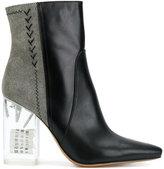 Maison Margiela bicolour boots with perspex heel
