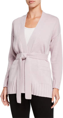 Amicale Belted Cashmere Kimono Cardigan