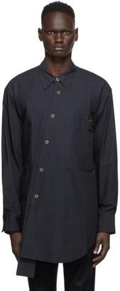 Wooyoungmi Navy Asymmetric Shirt