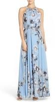 Eliza J Women's Belted Chiffon Maxi Dress