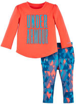 Under Armour Baby Girls Tri-Meta Two-Piece Top and Geometric Print Jogger Pants Set