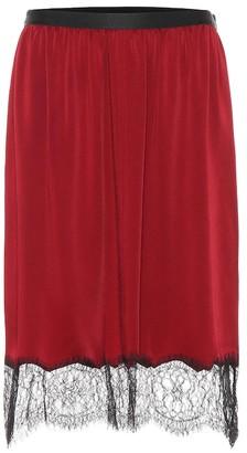 Joseph Lace-trimmed skirt