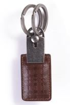 Boconi Tyler Tumble Plaid Leather Valet Key Ring