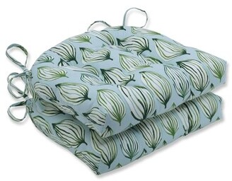 Tropical Leaf Reversible Dining Chair Cushion Bay Isle Home