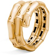 John Hardy 18K Gold Bamboo Double Coil Ring