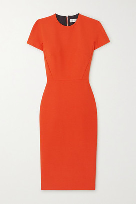Victoria Beckham Stretch-crepe Dress - Orange
