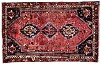 "One Kings Lane 5'9""x9'1"" Persian Shiraz Rug - Blush/Ivory"