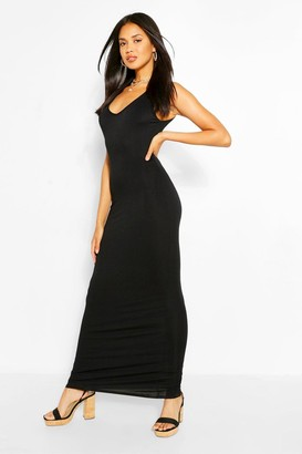 boohoo V Neck Sleeveless Maxi Dress
