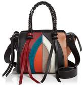 Elena Ghisellini Usonia Arch Color Block Small Leather Satchel