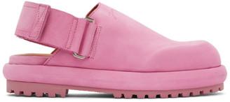 Jacquemus Pink Nubuck Les Mules Shoes