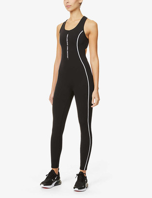 Lorna Jane Speed contrast-panel stretch-woven jumpsuit