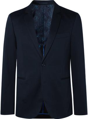 Paul Smith Navy Cotton-Blend Suit Jacket