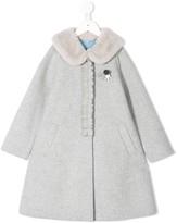 Familiar ruffle detail coat
