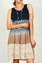 Umgee USA Ombre Lace Dress