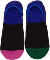 Paul Smith Black Multistripe No Show Socks