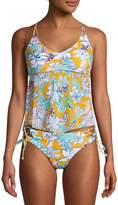 No Boundaries Juniors' Floral Tropical Breeze Tankini Swimsuit Top