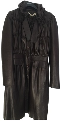 Valentino Brown Leather Coat for Women