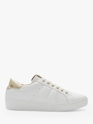 Mint Velvet Allie Leather Lace Up Trainers, White