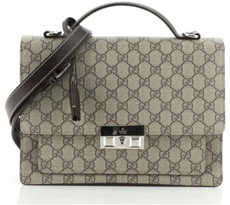 Gucci Padlock Briefcase GG Coated Canvas
