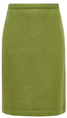 Burberry A-line Neoprene Skirt - Green