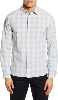 Vince Slim Fit Buffalo Check Button-Up Shirt