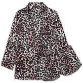 Love Stories - Jude L And Audrey H Leopard-print Satin Pajama Set - Leopard print