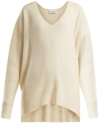 Raey V-neck Ribbed Cashmere Sweater - Womens - Ivory