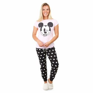 Disney Women's Mickey Wink Smile Pajama Set