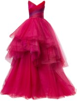 Monique Lhuillier Layered Tulle Ball Gown