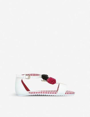 Kurt Geiger Sprinkles pom pom-detail sandals 7-11 years