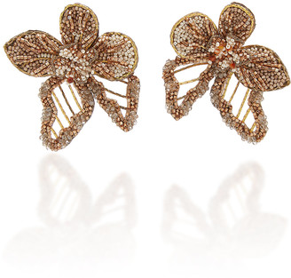 Deepa Gurnani Vicki Beaded Floral Earrings