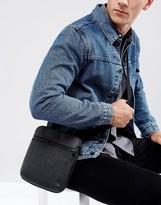 Armani Jeans Saffiano Flight Bag In Black