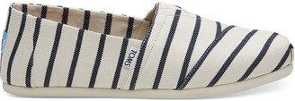 Toms White Navy Heritage Riviera Stripe Men's Classics Venice Collection