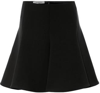 Valentino High-rise crepe miniskirt