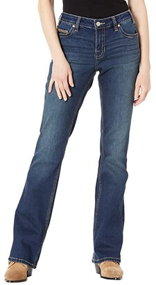Rock and Roll Cowgirl Riding in Dark Vintage W7-9779