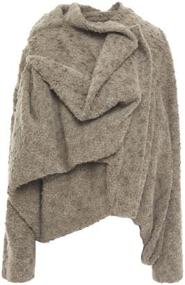 Rick Owens Draped Wool-blend Boucle Jacket