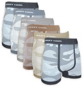 Crazy Cool Mens Nylon Stretchable Seamless Boxer Briefs Underwear 6-Pack, M/L