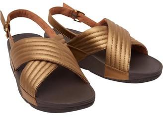 FitFlop Womens Lulu Padded Sandals Bronze