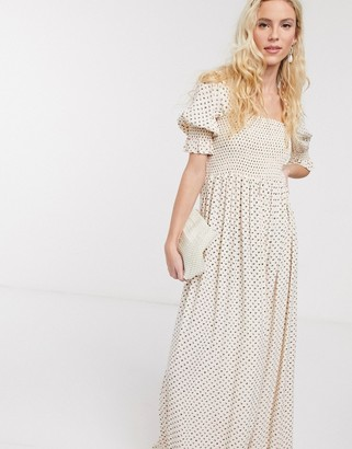 Notes Du Nord olivia floral puff sleeve maxi dress in petite flower