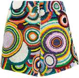Manish Arora circle pattern sequin shorts