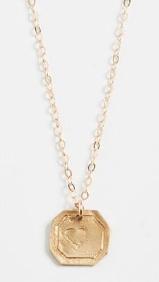 Maison Monik Heart Plate Necklace