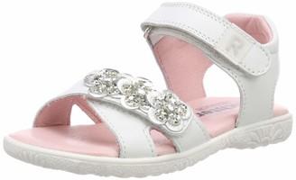 Richter Kinderschuhe Girls Sole Ankle Strap Sandals (White/Silver 0101) 10 UK