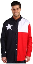 Roper L/S Pieced Texas Flag Shirt Men's Clothing