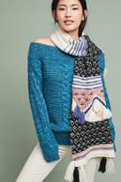 Anthropologie x Hello Hydrangea Tassel-Knit Scarf