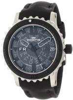 Fortis Men's 675.10.81 L.01 B-42 Big Black Rotating-Bezel Stainless Steel Watch