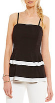 Gianni Bini Heidi Colorblock Tiered Blouse